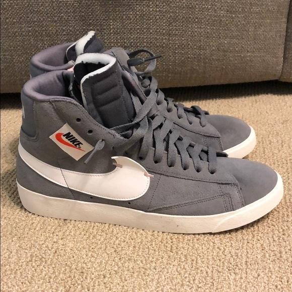 Nike Shoes - Grey Nike Blazer Mid Shoes